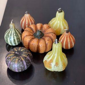 7 Crate & Barrel fall pumpkin gourd candles 🎃